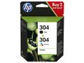 HP ink pack of 2 no. 304 (3JB05AE)
