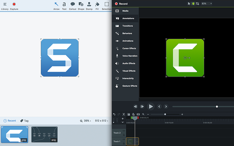 TECHSMITH Camtasia 9 & Snagit 18 Bundle  Commercial,  Mac/Win, ESD, 50-99 Users (CSBN99-9/18-E)