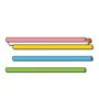 STRAWBEES Construction Straws 50p pink