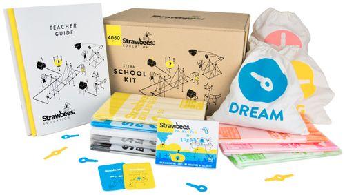 STRAWBEES STEAM School Kit - 4060 eri osaa + opettajan opas (strawbee-schoolkit)