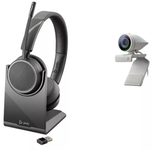POLY Poly Studio P5 webcam with Voyager 4220 UC Headset USB-A (2200-87140-025)