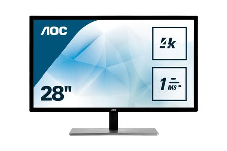 "AOC 28"" 4K LED U2879VF 3840x2160,  1ms, 80m:1, VGA/ DVI/ HDMI/ DP (U2879VF)"