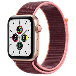 APPLE Watch Series SE 44mm 4G guld/ plommon Gold Aluminium Case med Plum Sport Loop (MYEY2DH/A)