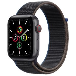 APPLE Watch Series SE 44mm 4G grå/ kolgrå Space Gray Aluminium Case med Charcoal Sport Loop (MYF12DH/A)