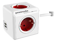 ALLOCACOC Powercube Original Extended USB Red (1402RD)