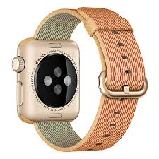 APPLE Apple Watch Sport 38mm Gold Aluminium Case with Red Woven Nylon (MMF52KS/A)