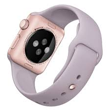 APPLE Apple Watch Sport 38mm Rose Gold Aluminium Case with Lavender Sport Band (MLCH2KS/A)
