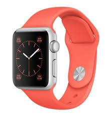 APPLE Apple Watch Sport 38mm Silver Aluminium Case with Apricot Sport Band (MMF12KS/A)
