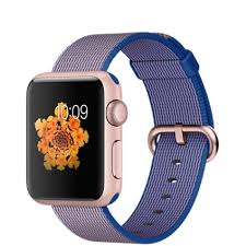 APPLE Apple Watch Sport 42mm Gold Aluminium Case with Royal Blue Woven Nylon (MMFQ2KS/A)