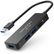 DELEYCON DeleyCON USB 3.0 Hub - 3 Port + Card Reader with U, SB A Plug - 0,15m - sort