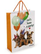 Gavepose Hund 'Let's have a party'