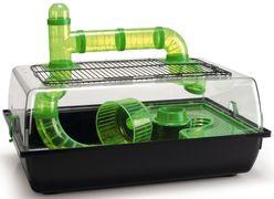 Hamsterbur Alex+ svart/grønt 58cm