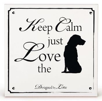 Design by Lotte Ceramic '...just Love the...dog' (796187)