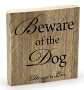 Design by Lotte WoodBoard 'Beware of the Dog'