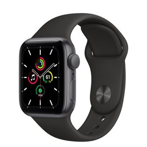 APPLE Watch SE GPS 40mm Space Gray Aluminium Case with Black Sport Band (MYDP2DH/A)