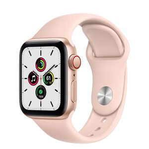 APPLE Watch Series SE 40mm 4G gull/rosa Gold Aluminium Case med Pink Sand Sport Band - Regular (MYEH2DH/A)