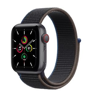 APPLE Watch Series SE 40mm 4G grå/ kullgrå Space Gray Aluminium Case med Charcoal Sport Loop (MYEL2DH/A)