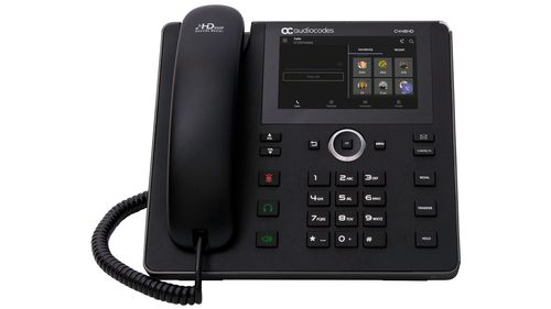 AUDIOCODES Teams C448HD IP-Phone PoE GbE black with an external power supply (TEAMS-C448HDPS)