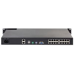 APC KVM 2G, Digital/ IP,  1 Remote/1 Local User, 16 Ports with Virtual Media - FIPS 140-2 (KVM1116R)