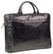 "DBRAMANTE1928 Briefcase,  Single Zip 16"" Black Leather - model Amalienborg"