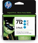 HP 712 3-Pack 29-ml Cyan DesignJet Ink Cartridge (3ED77A)