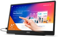 AOC 16T2 15.6inch 1920x1080 IPS Flat Fixed pivot Battery powered touch USB-C display for mobile and flexible use hard glas 3H (16T2)
