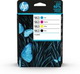 HP 963 CMYK Original Ink Cartridge 4-Pack (6ZC70AE)