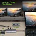 ACER 12-IN-1 TYPE-C DONGLE 2xUSB3.2 2xUSB2.0 2xHDMI 1xDisplayPort Type C PowerDelivery SD Card reader TF Card reader 1000M Ethernet (HP.DSCAB.009)