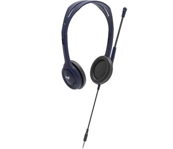 LOGITECH Wired 3.5mm Headset with Mic - MIDNIGHT BLUE - EMEA (991-000265)