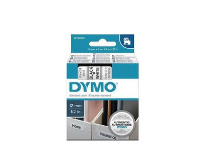 DYMO D1 12mm Tape Black/ White (S0720530)