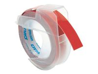DYMO 3D Tape / 9mm x 3m / White Text / Red Tape (S0898150)
