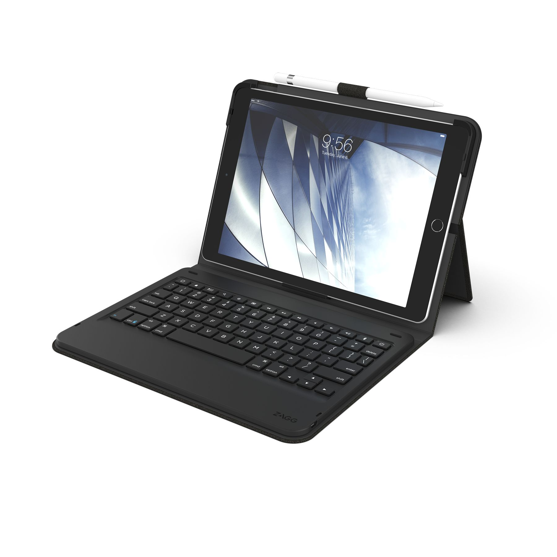 ZAGG INVISIBLESHIELD Messenger Folio tastatur og