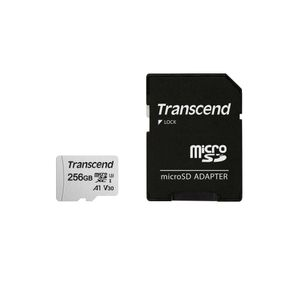 TRANSCEND microSDXC USD300S 256GB CL10 UHS-I U3 Up to 95MB/S with adapter (TS256GUSD300S-A)