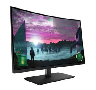 "HP 27"" Curved gamingskjerm 27x 1920x1080 VA, 144hz, 5ms, 3000:1, FreeSync, HDMI/DP (7MW42AA#ABB)"
