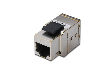 DIGITUS CAT6A MODULAR COUPLER.SHIELDED GR CABL (DN-93906)