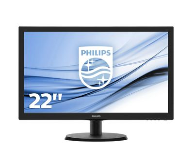 PHILIPS 223V5LSB/ 00 21.5LED 1080p VGA DVI Black (223V5LSB/00)