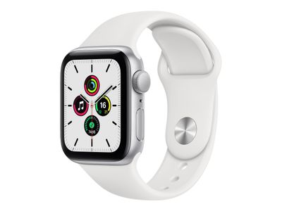 APPLE WATCH SE GPS+CELL 40MM SILVER ALUMCASE WITH WHITE S/P   IN ACCS (MYEF2KS/A)