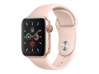 APPLE WATCH S5 GPS+CELL 40MM GOLD ALUCASE PINK SAND SPORT     IN CONS (MWX22KS/A-OM)