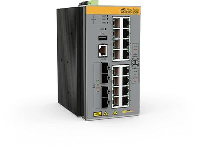 Allied Telesis L3 INDUST ETHERNET SWITCH 16X10/ 100/ 1000-T POE+4X SFP PORT CPNT (AT-IE340-20GP-80)
