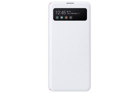 SAMSUNG S View Wallet A41, White S View Wallet Cover for A41 (EF-EA415PWEGEU)