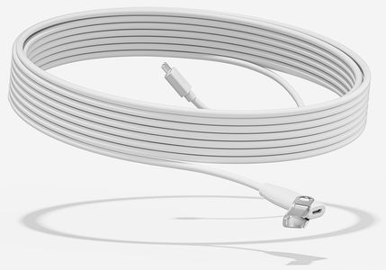 LOGITECH RALLY MIC POD EXTENSION CABLE WHITE - WW (952-000047)