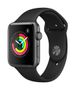 APPLE AW Series 3 GPS, 42mm Space Grey Alu Case Black Sport Band