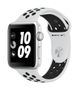 APPLE AW Nike+ GPS, 42mm Silver Alu Case Pure Plat/Bl Nike Sp Band