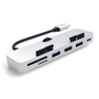 Satechi Satechi USB-C Clamp Card Reader microSD/SD Silver - iMac