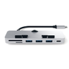 Satechi Satechi USB-C Clamp Card Reader microSD/ SD Silver - iMac (ST-TCIMHS)