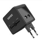 KANEX Kanex 4-in-1 Travel Adapter med 2 x USB (3.1A) Black