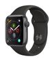APPLE AW Series 4 GPS, 40mm Space Grey Alu Case Black Sport Band