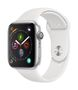 APPLE AW Series 4 GPS, 44mm Silver Alu Case White Sport Band