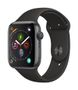 APPLE AW Series 4 GPS, 44mm Space Grey Alu Case Black Sport Band