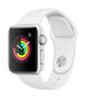 APPLE AW Series 3 GPS, 38mm Silver Alu Case White Sport Band